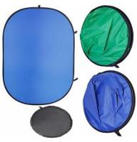 Фон складной Menik Y-92 сине/зелёный (150х200см) хромакей chromakey (Menik Y-92)